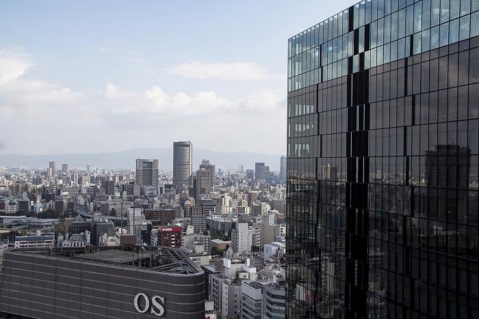 Vista de Osaka desde un edificio comercial en Umeda