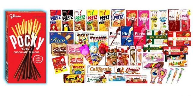 Glico snacks