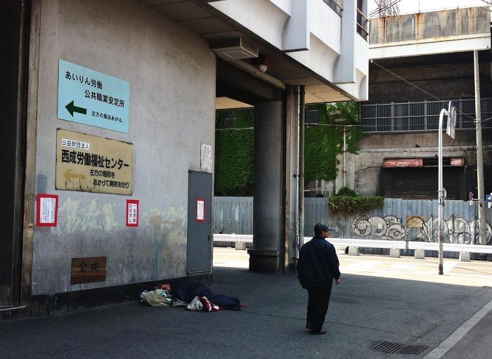 Los sin hogar abundan en el sur de la ciudad