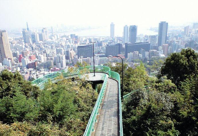Vistas de Kobe desde el Venus Bridge