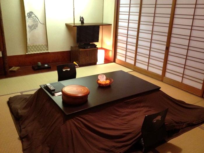 Ejemplo de kotatsu moderno