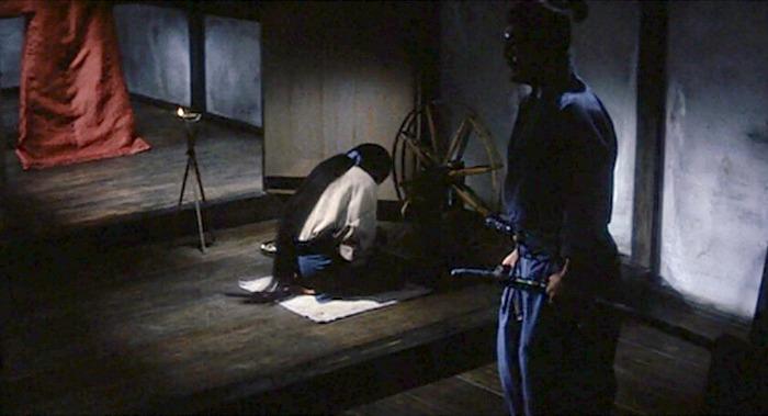 Imagen de la película Kwaidan (1964) en el fragmento dedicado a El cabello negro.