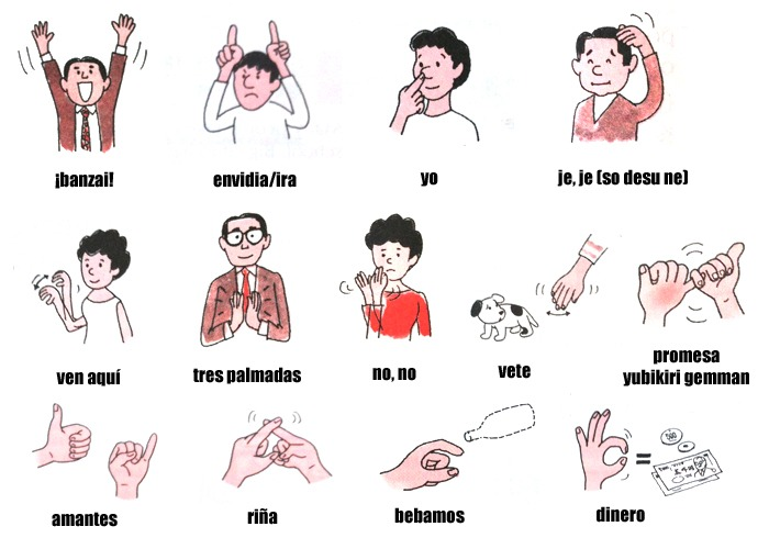 lenguaje gestual Japón